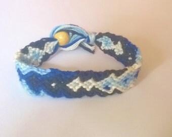 Friendship Bracelet Diamond Chevron Braided Woven