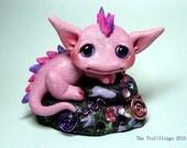 "OOAK Jeweled Pink Cloud Dragon Trollfling Troll ""Brynni"" by Amber Matthies"