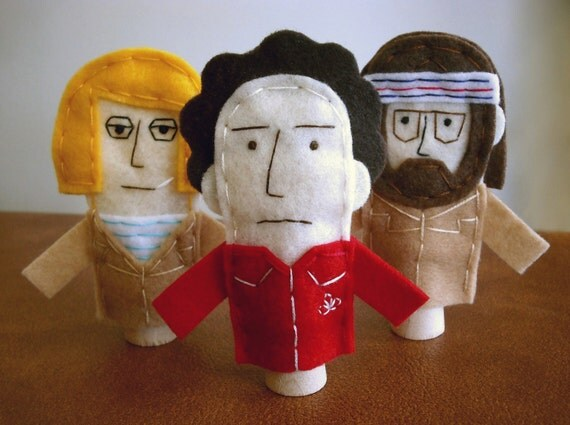 Royal Tenenbaum Finger Puppets - Free shipping!