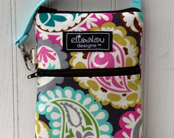 Paisley Flora 2 Pocket Padded Gadget, iPhone6, iPhone 6 Plus, iPod, cellphone, Samsung Galaxy, camera