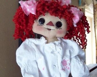 Doll Hair Bertha Spun Raggedy Red  Bulk Hank