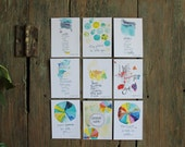 Wisdom set no. 20 - daily wisdom cards - set of 9 - ATC sized