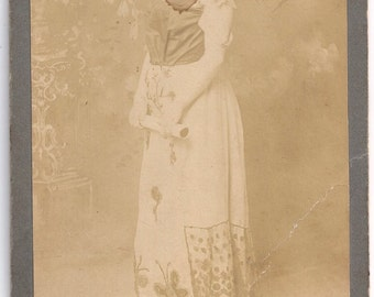 Obermuller cabinet card NY circus actress oddity butterfly