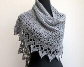 Custom Crochet Lace Shawl Scarf Wrap Cowl, Stylish Comfort Prayer Meditation, Women's Fashion, FREE SHIPPING