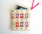 Coin Purse, Zipper Bag, Mini Cosmetic Bag with Candy Store Jars, Valentine Treats