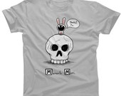 Memento Mori Death T-shirt - Mens and Ladies Sizes - Cute Funny Skull and Bunny TShirt