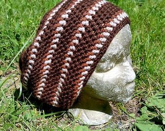 Hippie Crochet Dreadlock Tam Hipster Slouch Hat Cap Beanie