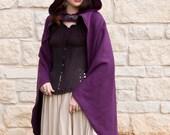 Rogue Cape Purple Renaissance Halloween Costume
