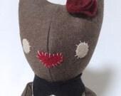 Plush Cat / Soft Doll / Stuffed Animal / Franka the Cat / Art Doll / Toy / Handmade Softie
