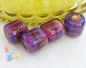 Lampwork Glass Beads Sunset Hipster Chubs