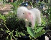 Needle Felted Lamb/ Collectible Decor; Animal