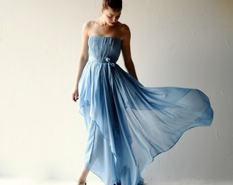 Wedding dress, Boho wedding dress, Bohemian wedding dress, Blue wedding dress, Princess wedding dress, Alternative wedding dress, Bohemian
