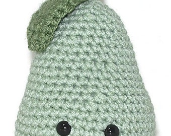 Crocheted Pear Plushie