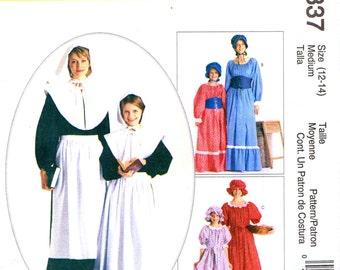 McCall's 2337 Costumes for Pilgrim Women, Prairie Settler Pioneer Gals, Quakers, Colonists ©1999