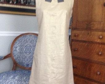 20% off saleGold Linen 1960's reproduction dress