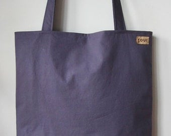 ON SALE Down The Road Grape Purple, Floral and Dark Khaki Green Tote Bag