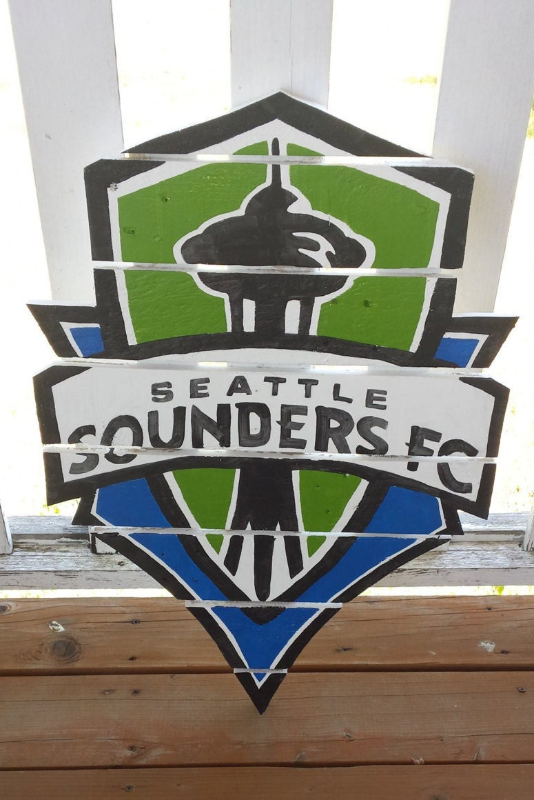 Seattle sounders fc sign made from reclaimed lumber hand for Reclaimed wood flooring seattle