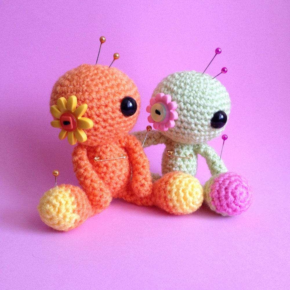 Amigurumi Flower Doll : Made to Order Amigurumi Custom Flower Voodoo Doll