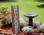 Large Wood Welcome Sign Front Door Porch Sign Home Distressed Welcome Sign Yard Sign Farm Sign Standing Sign Wooden Garden Signs Wedding