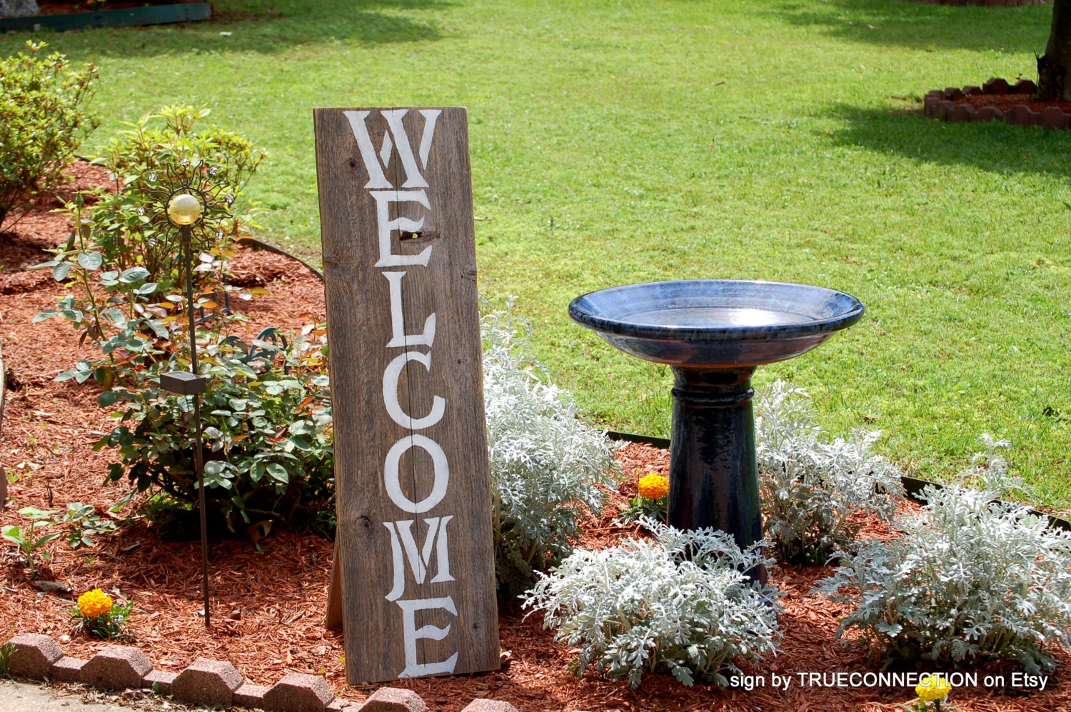 Large Wood Welcome Sign Front Door Porch Sign Home Distressed