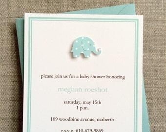 Baby Elephant Baby Shower invitation boy