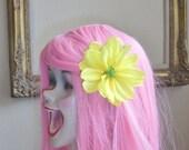 Yulia - Bright Yellow Daisy Clippie Interchangeable with Headbands