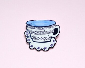 Cup of Tea Brooch / Pin