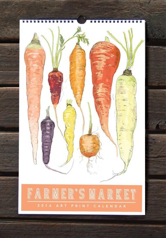 2016 Farmer's Market Wall Calendar