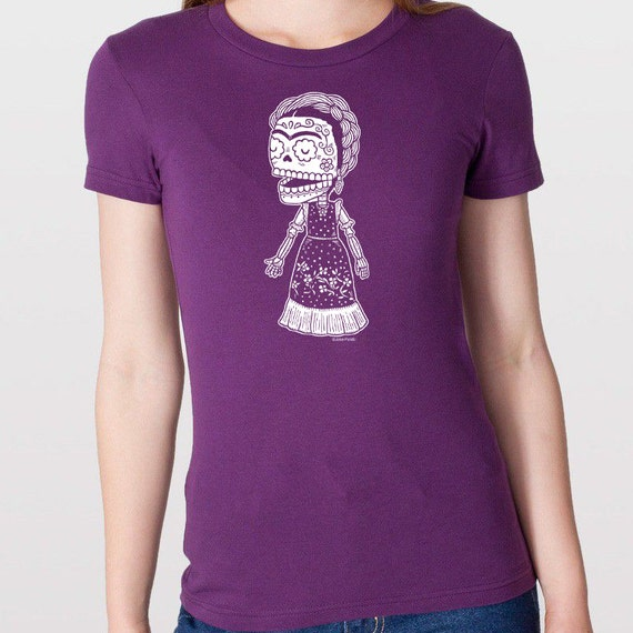 Frida Kahlo Calavera Womens T-Shirt Small, Medium, Large, X-Large in 5 Colors