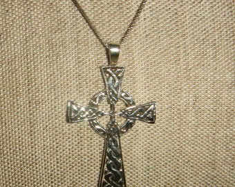 Celtic Cross Necklace Sterling Silver inv1220