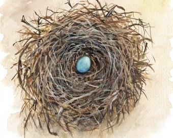 Nest Egg - Signed Print of an Original Watercolor Painting