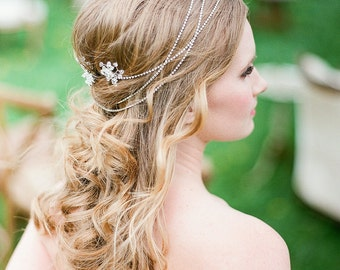 Crystal Rhinestone Hair Jewelry Hair Wrap  Silver  Headband  for Wedding or Special Occasion
