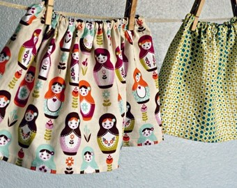 Skirt -  SALE Fall Matryoshka Russian Dolls Thanksgiving baby toddler gift holiday 0-3, 3-6, 6-12 months, 12-18, 2T 3T 4T