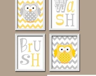 Owl bathroom decor | Etsy