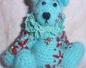 KAELYN miniature thread crochet BEAR by bonbears kreations