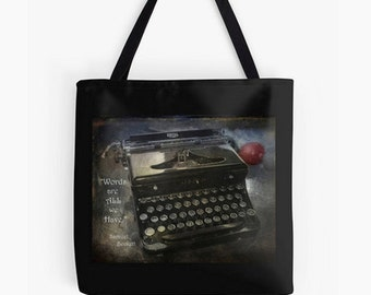 Book Bag - School bag, Writer's bag, shopping bag, tyrpwriter