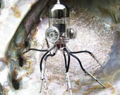 Octopus Sculpture #2: recycled Vacuum Tube, steampunk Sculpture