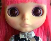 Cool Brown Resin Glitter Eye Chips for Blythe or Byul
