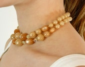 Double Strand Choker • Pearl Necklace • Double Strand Necklace • 1950s Choker Necklace • 50s Choker • Bead Necklace • 50s Jewelry