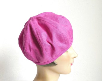 Beret in Rose Water Linen - Women's Hat - Women's Beret Hat