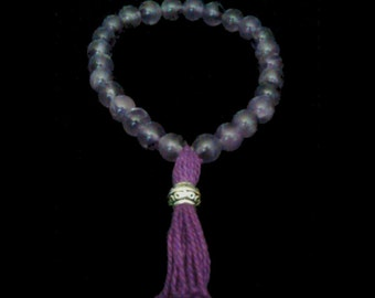 """Buddha Amethyst """"Wisdom and Dreams"""" Tassel Bracelet (Mala)"""
