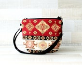 Messenger Bag, Daily Woven Cross Body Bag, Red, Yellow Black, Cream, Small Bag, Travel Bag, Long crossbody strap - everyday bag, Bags Purses