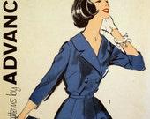 Vintage 1960s Dress Pattern Advance 2753 Bust 36 37 Shirtwaist Dress Pattern Factory Folded