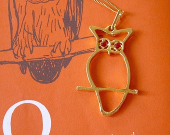 Owl by Myself... Vintage Pendant Necklace