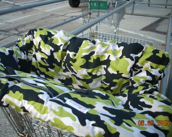 High Chair Cover Shopping Cart cover  for boy or girl......Military Max Man Camouflage