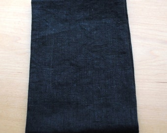 Linen Dish Towel Black Kitchen Towel Guest Towel Tea Towel Hand Towel