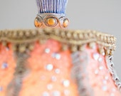 Reserved Payment #2 - Cinderella Fairytale Pink and Blue Beaded Table Lamp for a Magial Nursery Room OOAK