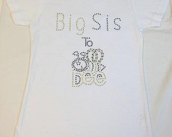 Girls Big Sis Tee Shirt Bumble Bee