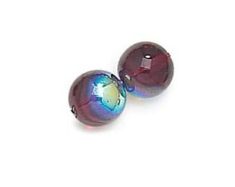 On Sale 50 pcs 3mm Red glass beads, Light Garnet AB Red Smooth Round Czech Glass Druk #9010AB/3 GB 603
