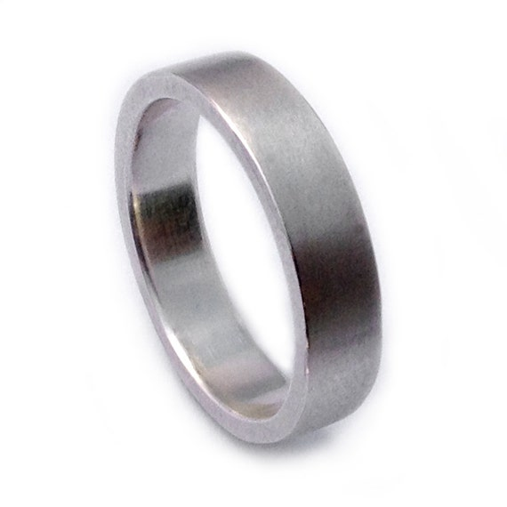 Items Similar To 5mm Mens Wedding Band In 100 Recycled Sterling Silver Brushed Simple Mens